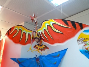 Displays of kite culture in an unusual museum
