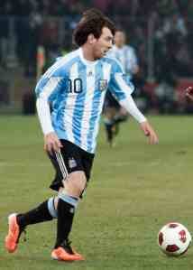 Lionel Messi in national colours