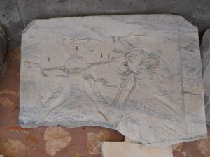 Stone tablet commemorating visit of space aliens to Manisa