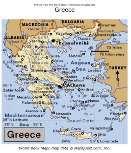 Check out those 'Greek' islands - and locate Cyprus on the map.