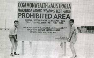 British nuclear bomb testing in Australia