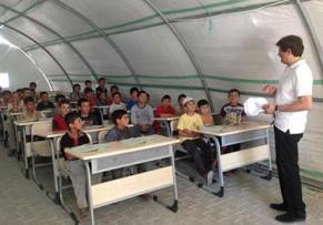 Refugee camp in Turkey - Syrian children attending school