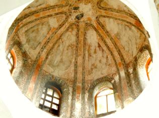 Mosaics and frescoes can still be seen in the Molla Gürani Mosque