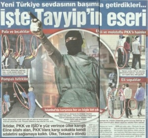 Front page of 'Sözcu' - I suspect the USA is behind it