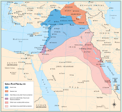 Sykes-Picot 1916 - You can see why the Turks might not have been happy