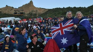 Australians commemorating Anzac day at Gallipoli