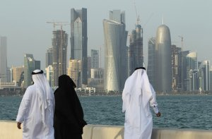 One happy family in Qatar - Don't believe that stuff about slave labour from the 3rd world
