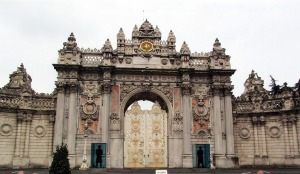 Main gate of Dolmabahçe Palace - designed by Garabet Balyan