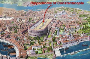 Re-creation of Constantinople with its hippodrome