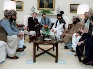 President Reagan hosts Afghan mujahideen fighters in the White House, 1983