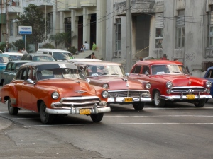 Cars in Havana - harking back to happier days in US-Cuba relations