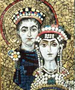 Emperor Justinian I and his wife Theodora