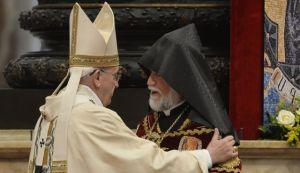 Pope Francis and Aram I engaging in ecumenical solidarity