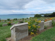 Soldiers' graves at Anzac Cove