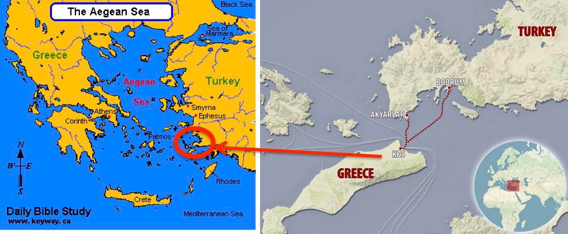 Greek island holidays what goes around comes around turkey file theres kos theres turkey wheres greece gumiabroncs Choice Image