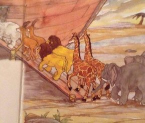 Can you spot this unexpected thing on Noah's Ark?