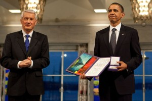 Barack Obama accepts the 2009 Nobel Peace Prize. The road to Hell is paved with good intentions