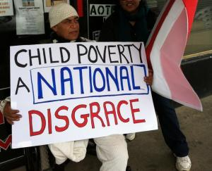 Child poverty protest