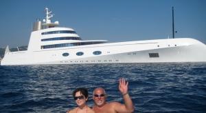 The mega-yacht 'A'