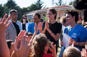 Angelina Jolie visiting Syrian refugees in Turkey - in 2011!