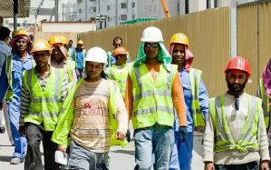 Dubai's labour force - largely supplied by India, Pakistan, Bangladesh etc