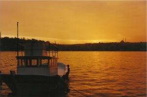 The Golden Horn at sunset