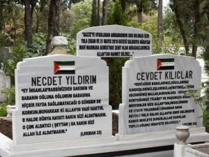 Graves of Mavi Marmara martyrs
