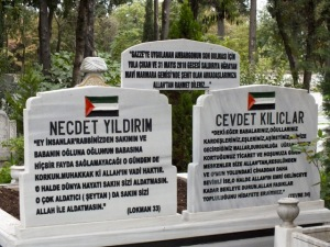 Graves of Mavi Marmara martyrs
