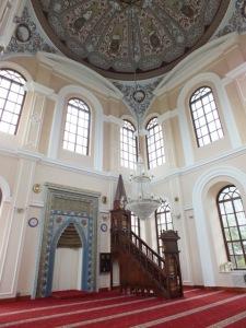 Interior of the Aziziye Mosque