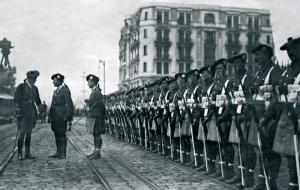 British troops in Karaköy, Istanbul, 1919