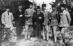 Mustafa Kemal and friends in Sivas, September 1919