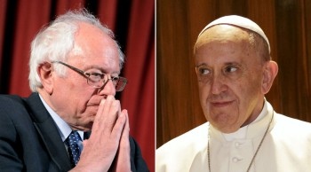 Sanders and pope