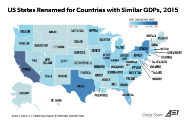 US-States-and-Economies-with-Similar-GDPs-2015