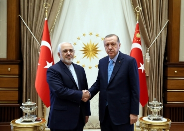 Turkish President Tayyip Erdogan meets with Iranian Foreign Minister Mohammad Javad Zarif in Ankara