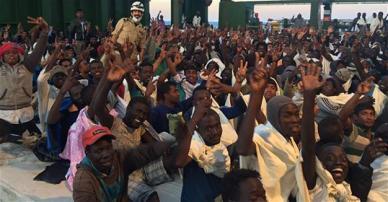 Libyan migrants 450