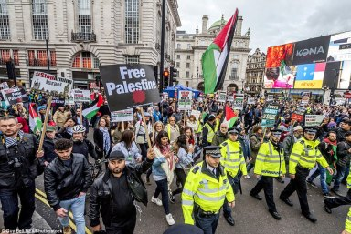 protesters in london