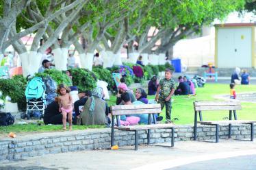 refugees in parks