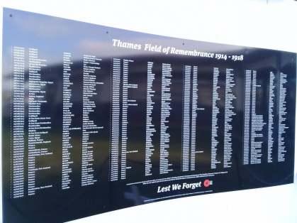 Thames war memorial