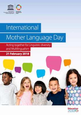 Unesco language day poster