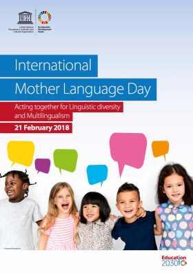 Unesco language day poster